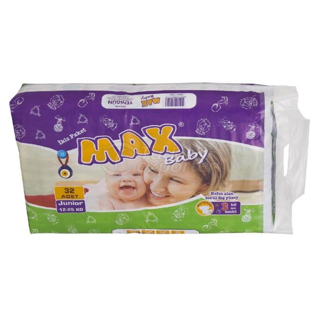Baby Diapers Junior 32 pcs