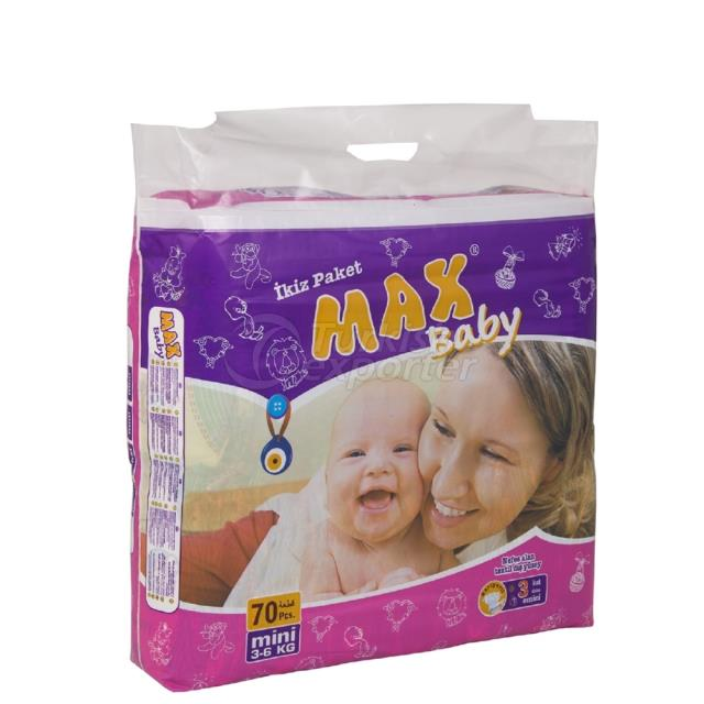Baby Diapers Mini 70 pcs