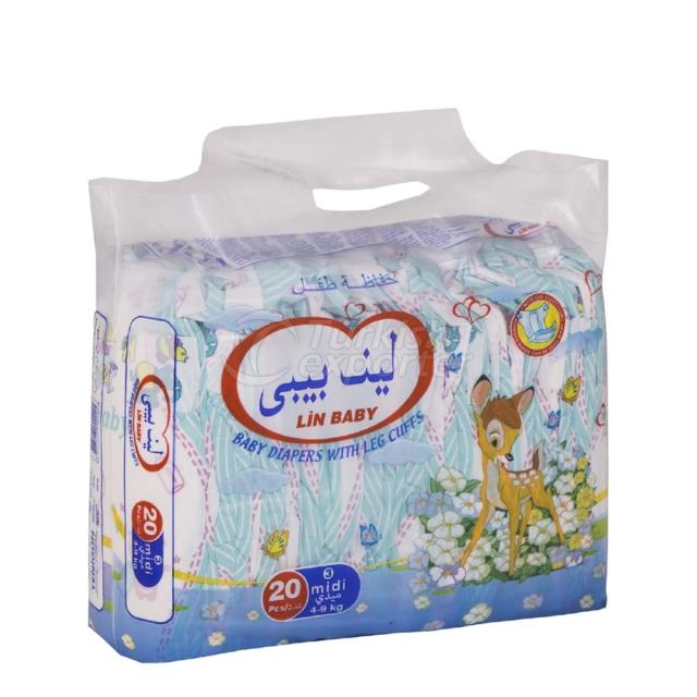 Baby Diapers Midi 20 pcs