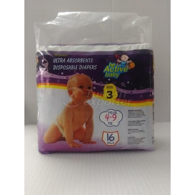 Baby Diapers Midi 16 pcs