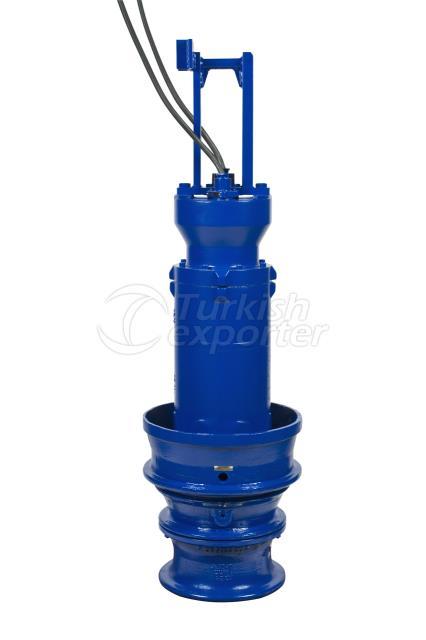Wet-installed submersible motor pum
