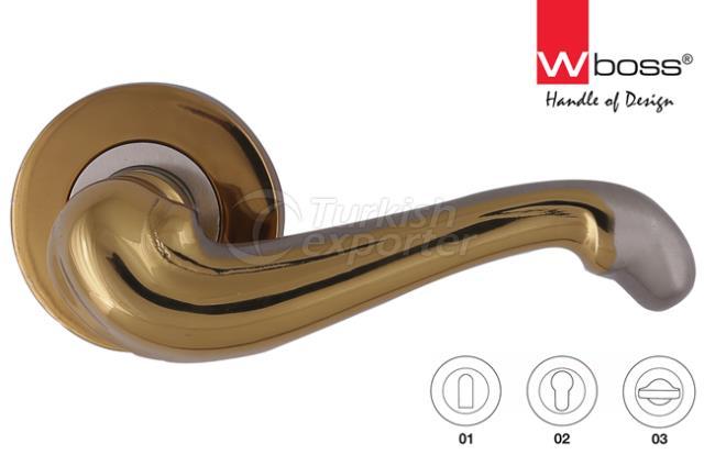 Aslan Brass Door Handle Rosette