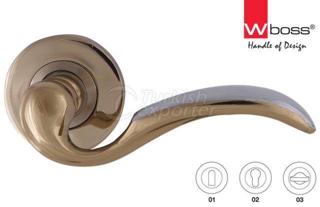 Esprit Brass Door Handle Rosette