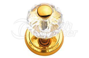 Crystal Brass Door Knobs