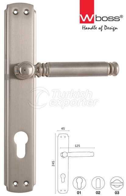 Polo Brass Door Handle