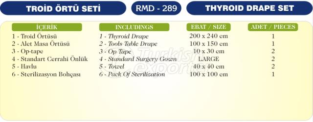 Thyroid Drape Set