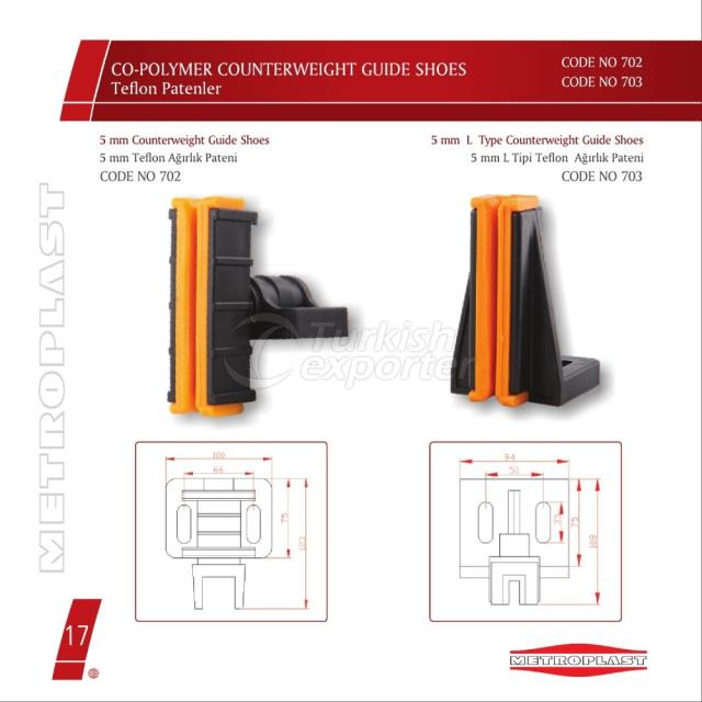 Counterweight Guide Shoes