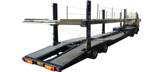 Auto Carrier Semi-Trailer with Post