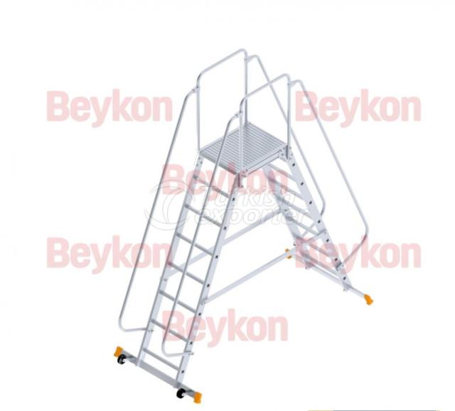 Industrial Dual Ladders with Wheels