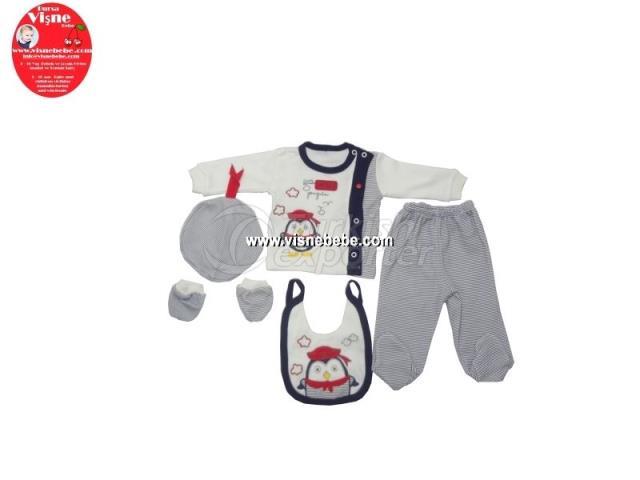 5 Pcs Penguin Babygro Set