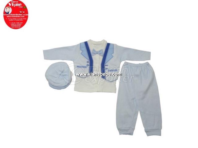 Brode 3 Pcs Babygro Set with Jacket