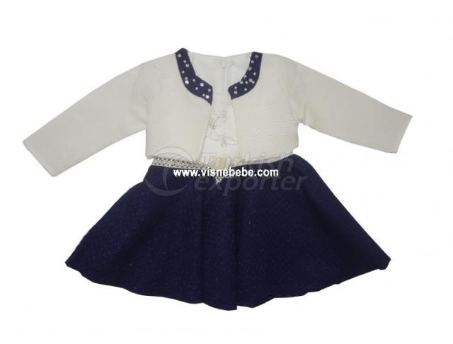 Bolero Jacquard Baby Girl Dress