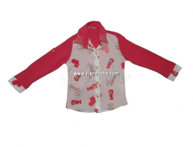 Heart Crepe Girl Shirt