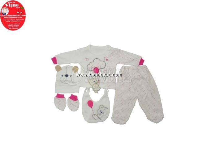 5 Pcs Baloon Babygro Set