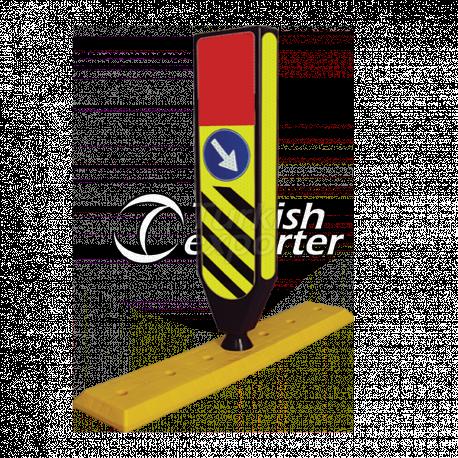 Flexible Refuge Sign With Seperator Base - CR 2603