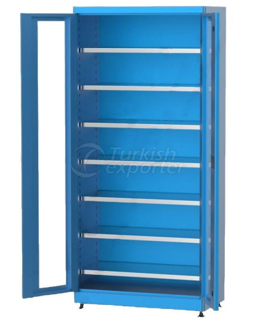 Material Cabinet with Shelves 6226