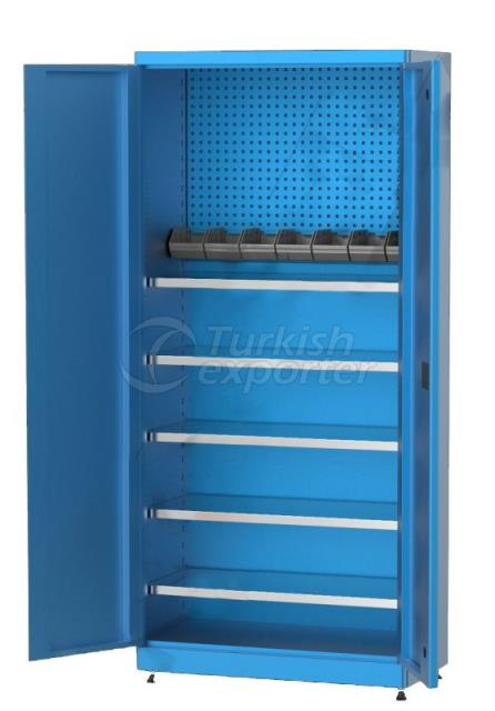 Material Cabinet with Shelves 6230