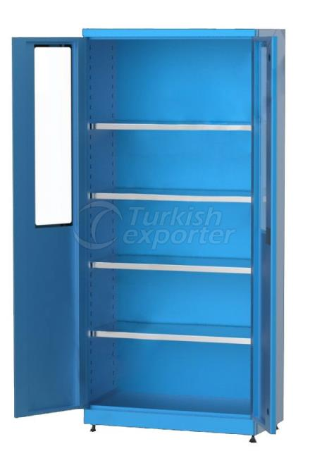 Material Cabinet with Shelves 6237