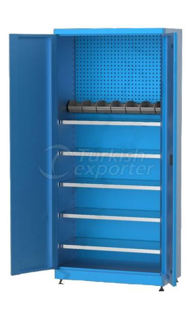 Material Cabinet with Shelves 6195