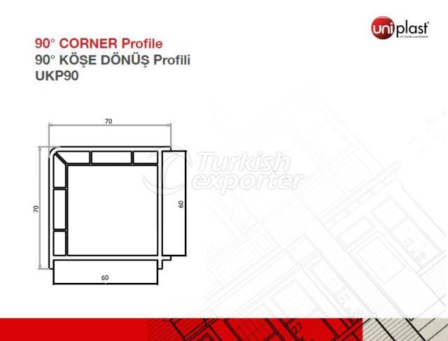 90o Corner Profile UKP90