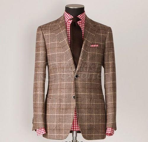Man Checkered Jacket