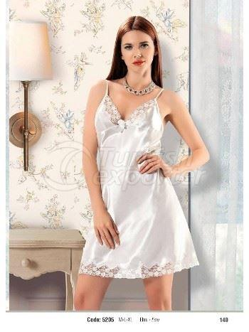 Denizgulu Ecru Satin Night Gown