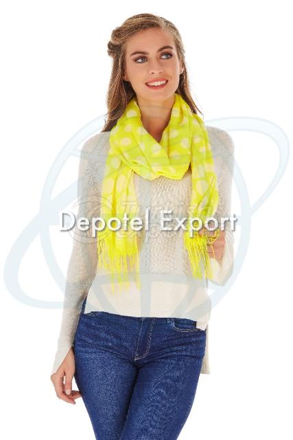 Shawl Bliss 4758 Shw Yellow Yellowdot