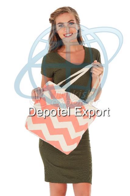 Cotton Bag 4815 Ecolusive Coral Chevron