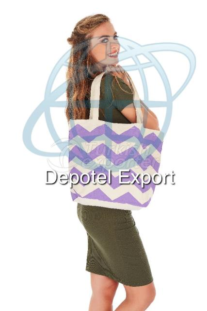 Cotton Bag 4824 Ecolusive Purple Chevron