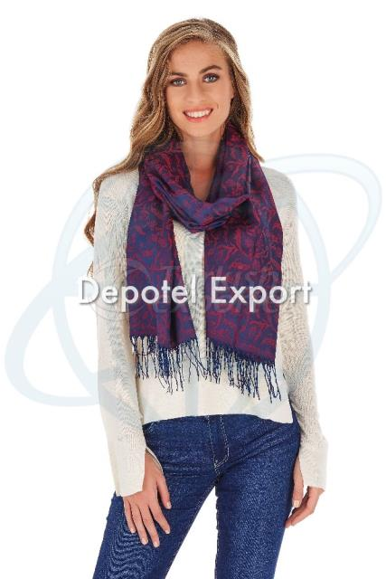 Shawl Bliss 4005 Navy Flwnavy Burg 1