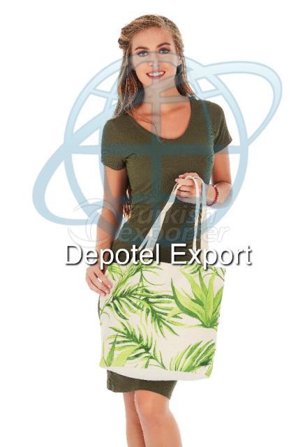 Cotton Bag 4805 Ecolusive Tropica Green