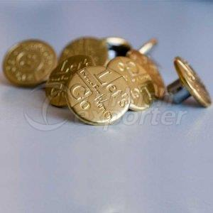 Brass Jeans Button