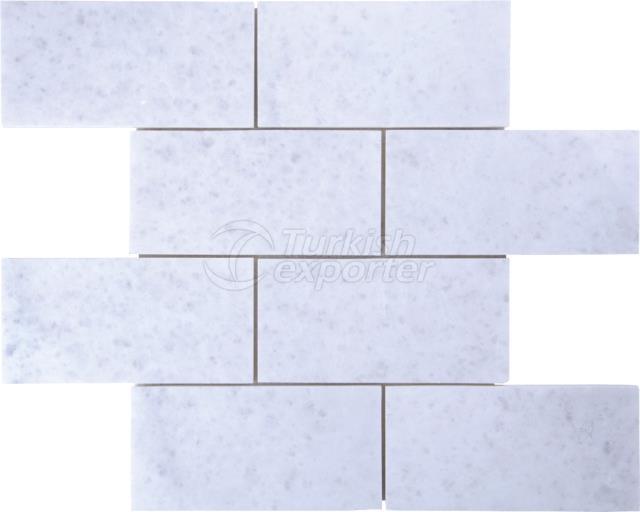 7,5x15 Kemalpasa White Brick Mosaic