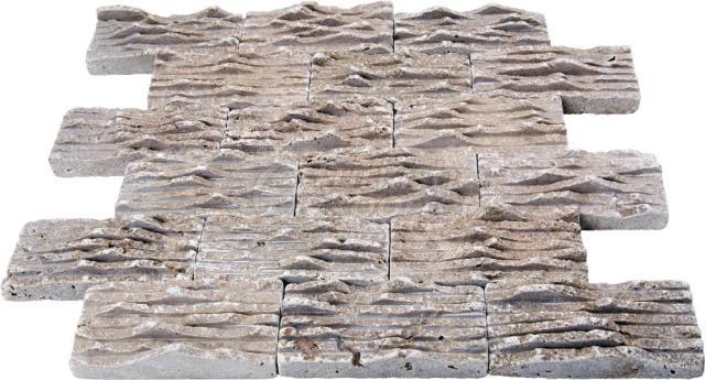 Hatch Brick Mosaic Noce 4,8x10 cm