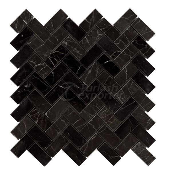 Herringbone Mosaic 2,3x4,8 Toros Black