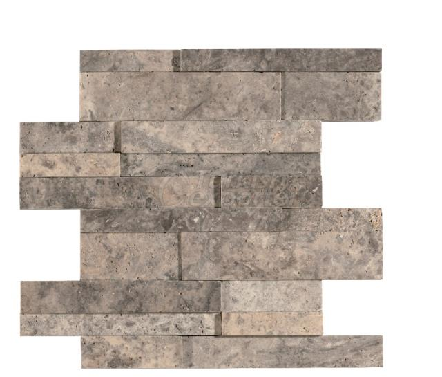 3D Cubic Silver Travertine