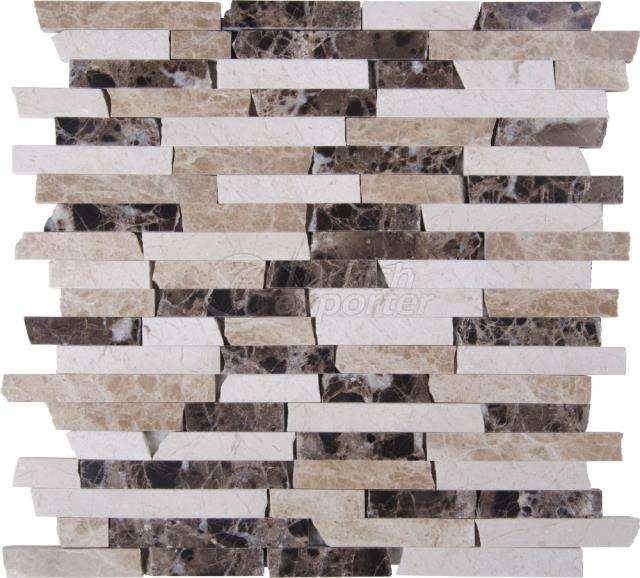 1,5xFL Emperador Dark Light Beige Mix