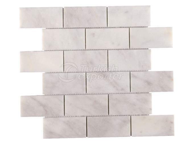4,8x10 Mugla White Brick Mosaic