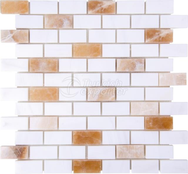 2,3x4,8 Dolamite Onyx Brick Mosaic