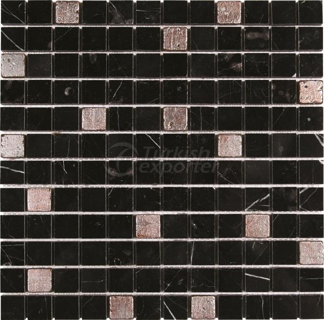 2,3x2,3 Toros Black Argent Mosaic