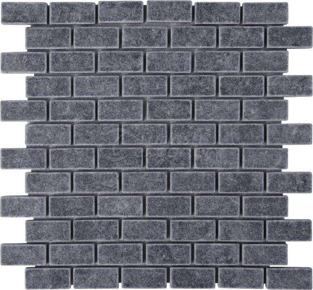 2,3x4,8 Bluestone Brick Mosaic Tumbled