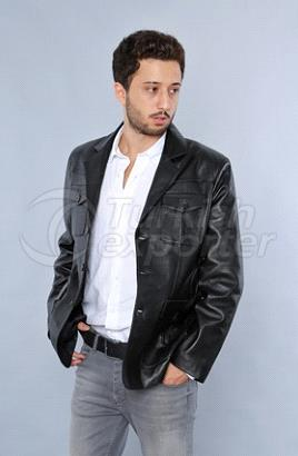 Man Leather Jacket Kaptan