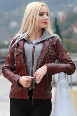 Woman Leather Coat