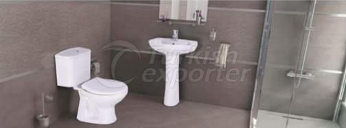 Wash Basin - Flush Toilet Prizma
