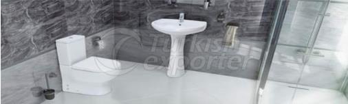 Wash Basin - Flush Toilet Tuna