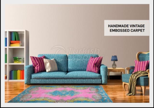 Handmade Vintage Embossing Carpet