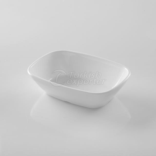 Square Oval Plate 17cm