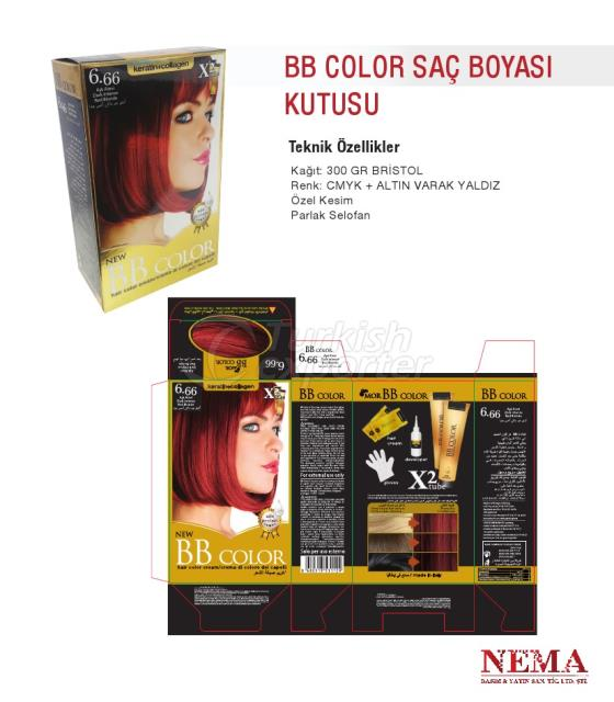 BB Color Hair Dye Box