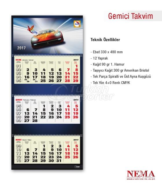 Three-Month Calendar