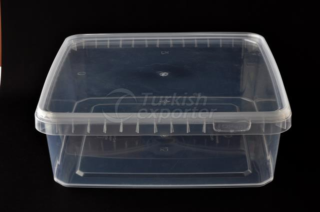 4500 ml plastic square box